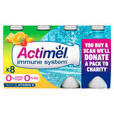 Actimel No Added Sugar 0% Fat Multifruit Yogurt Drink 8 x 100g (800g)