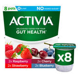 Activia Raspberry, Strawberry, Cherry and Blueberry Yogurt 8 x 120g (960g)