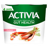 Activia Rhubarb Gut Health Yogurt 4 x 115g (460g)