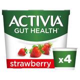 Activia Strawberry Gut Health Yogurt 4 x 115g (460g)