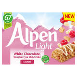 Alpen Light Cereal Bar White Chocolate, Raspberry and Shortcake 5 x 19g