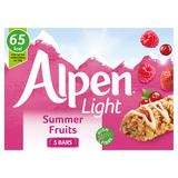 Alpen Light Cereal Bars Summer Fruits 5 x 19g
