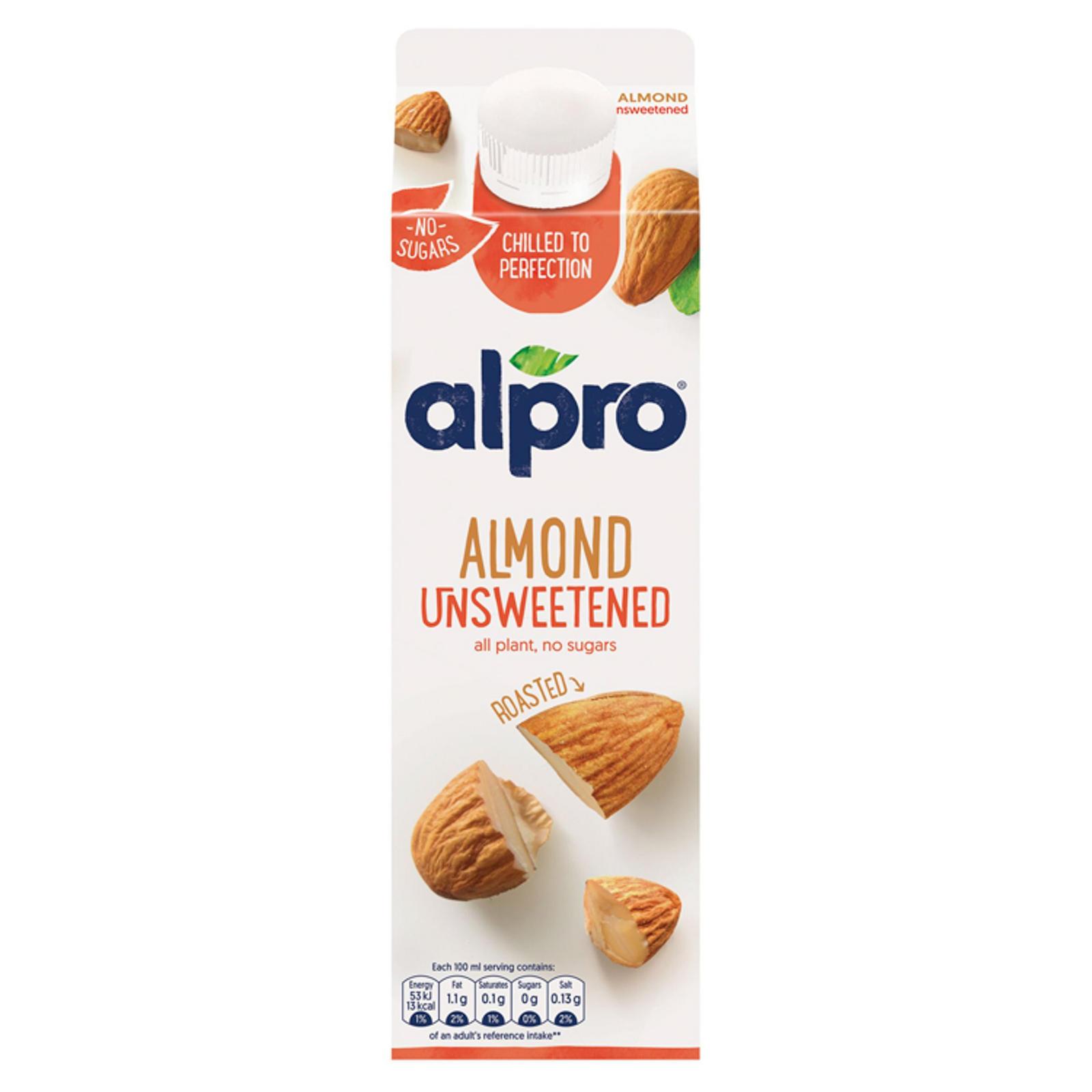 Alpro Almond Unsweetened Drink 1l Milk Iceland Foods