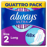 Always Ultra Long (Size 2) Sanitary Towels Wings 48 Pads