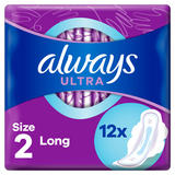 Always Ultra Sanitary Towels Long (Size 2) Wings 12 Pads