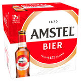 Amstel Bier Lager Beer 12 x 300ml Bottles