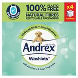Andrex Aloe Vera Washlets Multipack (4 x 36 sheets)