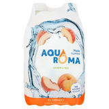Aquaroma Sparkling Peach Flavoured Spring Water 4 x 500ml
