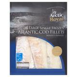 Arctic Royal 4 Large Single Frozen Atlantic Cod Fillets 560g