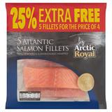 Arctic Royal 5 Atlantic Salmon Fillets 650g