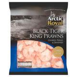 Arctic Royal Black Tiger King Prawns 500g