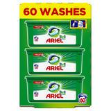 Ariel 3in1 Pods Original Washing Liquid Capsules 60 Washes