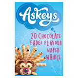 Askeys 20 Chocolate Fudge Flavour Wafer Whirls