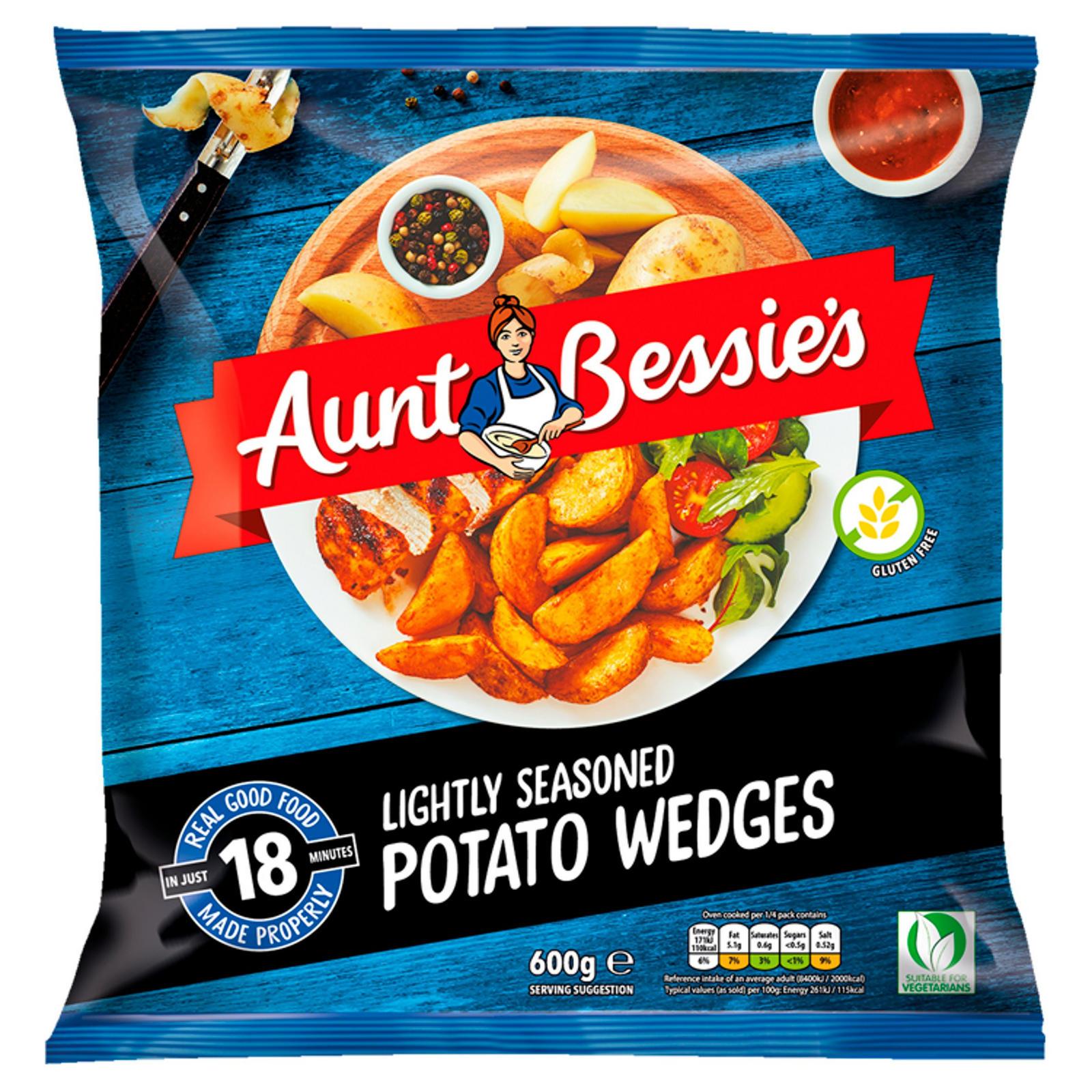 Aunt Bessies Lightly Seasoned Potato Wedges 600g Wedges