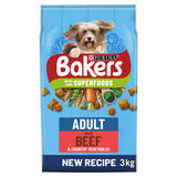 BAKERS ADULT Beef with Vegetables Dry Dog Food 3kg