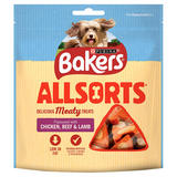 BAKERS Dog Treat Chkn, Beef and Beef Allsorts 98g