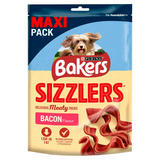 BAKERS Dog Treats Bacon Flavour Sizzlers 185g
