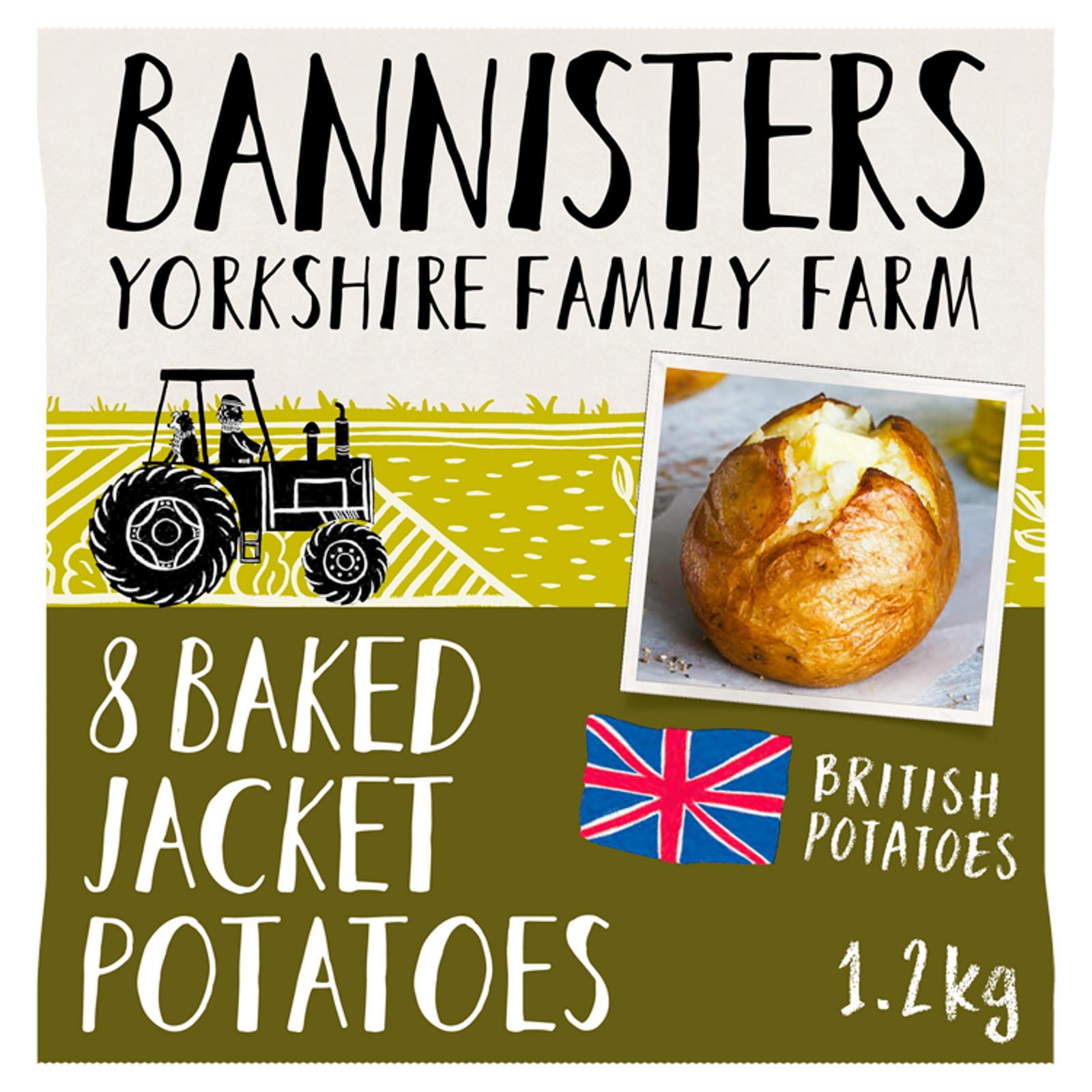 Bannisters Yorkshire Family Farm 8 Baked Jacket Potatoes 12