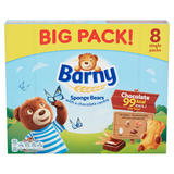 Barny Chocolate Sponge Bears 8 Pack 200g