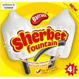Barratt 4 Sherbet Fountain Lollies 300g