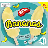 Barratt Foam Bananas Ice Lollies 4 x 160g