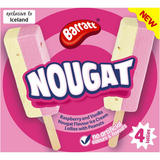 Barratt Nougat Ice Lollies 4 x 248g