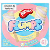 Barratt Flumps Mini Vanilla Flavour Ice Cream Lollies 6 x 50ml (300ml)
