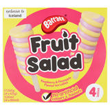 Barratt Fruit Salad Raspberry & Pineapple Flavour Ice Lollies 4 x 80ml (320ml)
