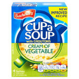 Batchelors Cup a Soup Cream of Vegetable with Croutons 4 Pack 122g