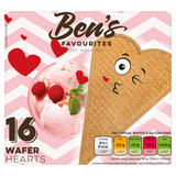 Ben's Favourites 16 Wafer Hearts 55g