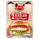 Birds Eye 2 Chicken Shop Sizzler Fillet Burgers 227g