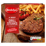 Birds Eye 4 Beef Grill Steaks 340g