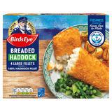 Birds Eye 4 Breaded Haddock Large Fillets 440g