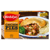Birds Eye 4 Shortcrust Chicken Pies 620g