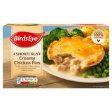Birds Eye 4 Shortcrust Creamy Chicken Pies 620g
