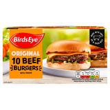 Birds Eye Original 10 Beef Burgers with Onion 567g