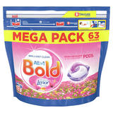 Bold All-in-1 Pods Washing Capsules Sparkling Bloom & Yellow Poppy 63 Washes