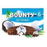 Bounty Chocolate Coconut Ice Cream Bars 6 x 39g