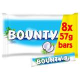 Bounty Coconut Milk Chocolate Duo Bars Multipack 8 x 57g