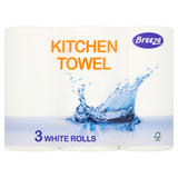 Breeze Kitchen Towel 3 White Rolls