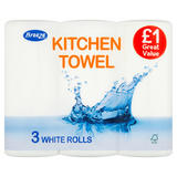 Breeze Kitchen Towel 3 White Rolls