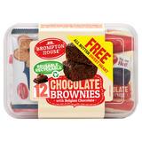 Brompton House Chocolate Brownies with Belgian Chocolate + 1 Free Sweet Heart 12 x 25g (300g + 11g)