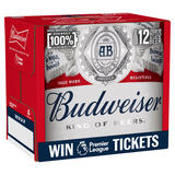 Budweiser Lager Beer Bottles 12 x 300ml
