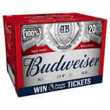 Budweiser Lager Beer Bottles 20 x 300ml