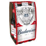 Budweiser Lager Beer Bottles 4 x 300ml