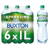 Buxton Sparkling Natural Mineral Water 6x1L