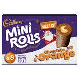 Cadbury 8 Mini Rolls Chocolate Orange