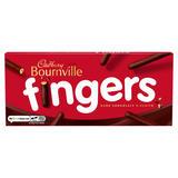 Cadbury Bournville Fingers Dark Chocolate Biscuits 114g