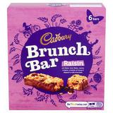 Cadbury Brunch Bar Raisin 6 Pack 192g
