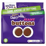 Cadbury Dairy Milk Giant Buttons Chocolate Bag 240g